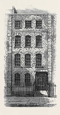 House In Which Handel Lived 57 Brooke Street London Art Print by English School
