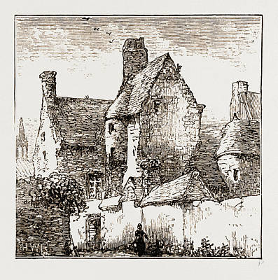 House In Which Prince Charles Edward Took Refuge At Roscoff Art Print by Litz Collection