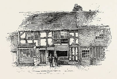 Stratford Drawing - House In Which Shakespeare Was Born by English School