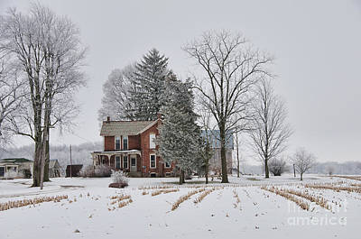 Photograph - House In Winter by David Arment