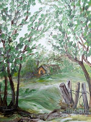 Painting - House Just Beyond The Ridge by Eloise Schneider