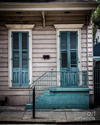 Warm Digital Art - House Of Blue Doors by Perry Webster