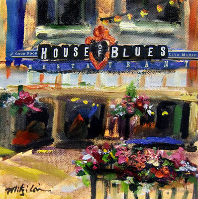 House Of Blues - Original Sold Art Print by Mitzi Lai