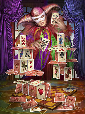 Jester Digital Art - House Of Cards by Ciro Marchetti