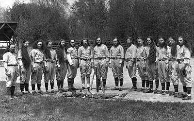 Baseball Team Photograph - House Of David Baseball Team by Underwood Archives