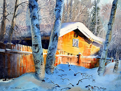 Cold Temperature Painting - House Of Light by Vladimir Zhikhartsev