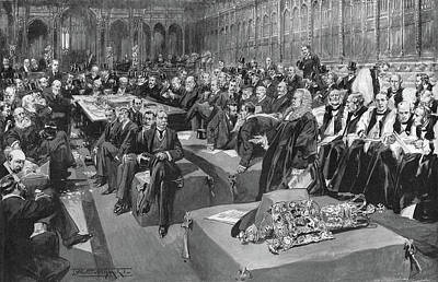 Drawing - House Of Lords, 1902 by Granger