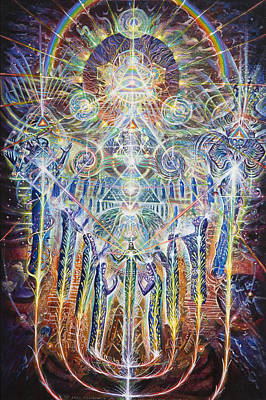 Fractal Geometry Painting - House Of Many Mansions by Kuba Ambrose