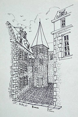 Pen And Ink Drawing Photograph - House Of Princess Anne Of Brittany by Richard Lawrence