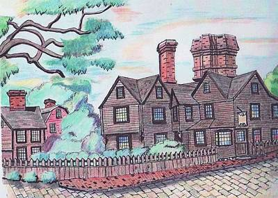 House Of Seven Gables Art Print by Paul Meinerth
