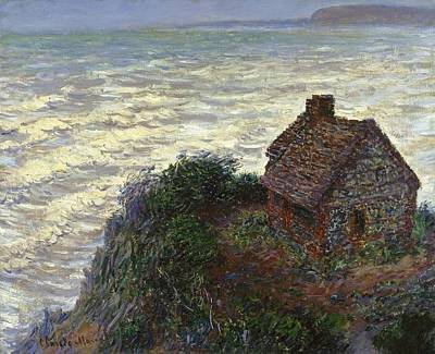 Cambridge Painting - House Of The Customs Officer by Claude Monet