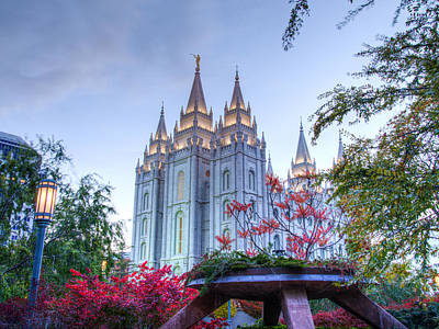 Mormon Temple Photograph - House Of The Lord by Dustin  LeFevre