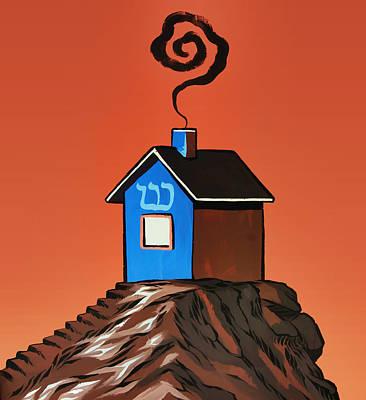 House On A Hill Art Print by Steven Michael