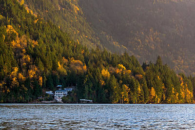 Harrison Hot Springs Wall Art - Photograph - House On Harrison Lake by Michael Russell