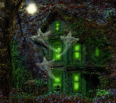 Haunted House Painting - House On Haunted Hill by Doug Kreuger