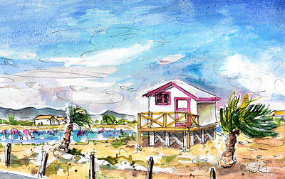 House On Stilts By Gruissan Print by Miki De Goodaboom