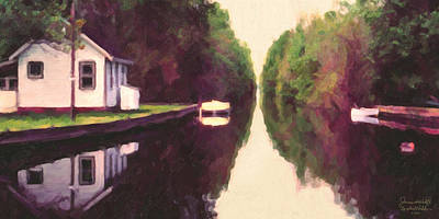 House On The C And O Canal Art Print