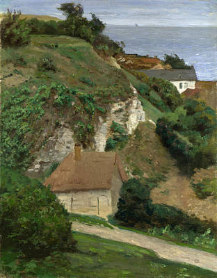 Fecamp Painting - House On The Cliffs Near Fecamp by Antoine Chintreuil