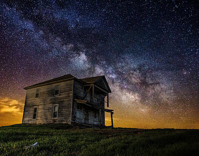 Creepy Photograph - House On The Hill by Aaron J Groen