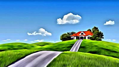 Painting - House On The Hill by Florian Rodarte