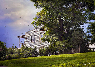 House On The Hill Art Print by Madeline Ellis
