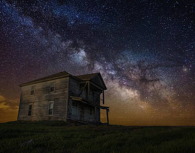 Abandoned Houses Photograph - House On The Hill   Remastered by Aaron J Groen