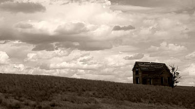 Photograph - House On The Prairie No.3 by Daniel Woodrum