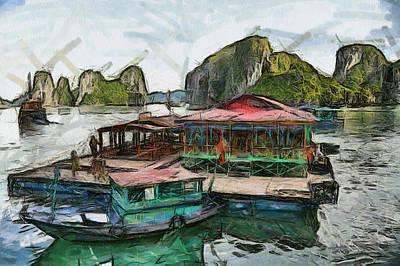 House On The Sea Art Print by Teara Na
