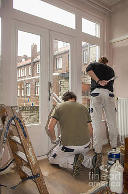 Photograph - House Painters At Work by Patricia Hofmeester