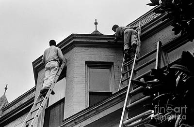 Photograph - House Painters Preparing To Paint by Tom Brickhouse