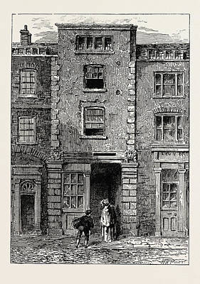 House Said To Have Been Occupied By Dryden In Fetter Lane Art Print by English School