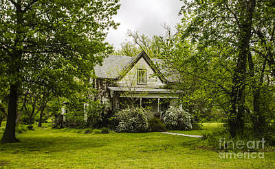Photograph - House Slowly Decaying Back Into The Countryside Baxter Springs Kansas by Deborah Smolinske