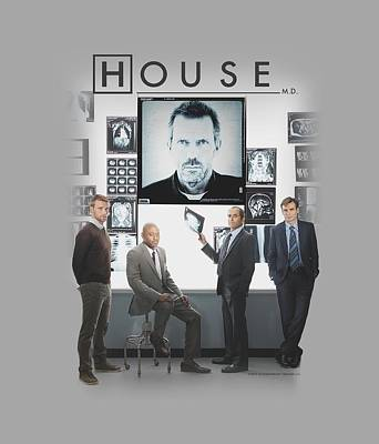Gregory House Digital Art - House - The Cast by Brand A