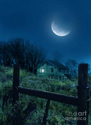 Photograph - House Under The Moon by Jill Battaglia