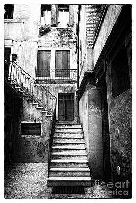 Old School Houses Photograph - House Up The Stairs by John Rizzuto