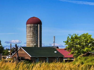 Photograph - House W Silo by Ron Roberts