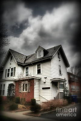 Photograph - House With Brick Front - American Gothic by Miriam Danar