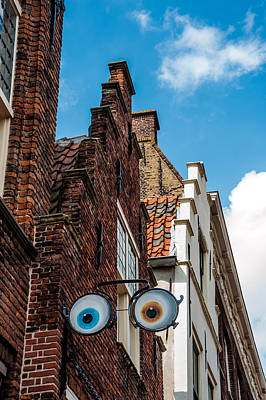 House With Eyes. Brielle. Netherlands Art Print by Jenny Rainbow