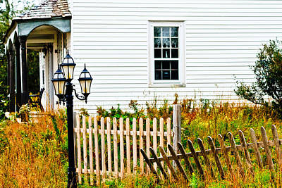 Photograph - House With Fence And Lamp by Ben Graham