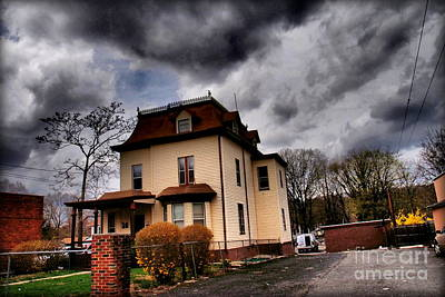 Photograph - House With Storm Approaching by Miriam Danar