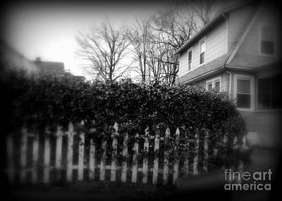 Photograph - House With White Fence by Miriam Danar