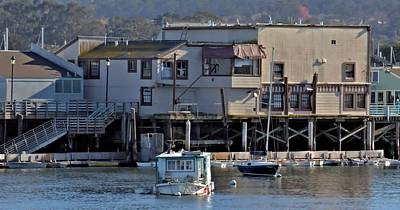 Photograph - Houseboat In Monterey Harbor by Elery Oxford