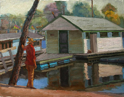 Painting - Houseboat On The Mississippi by Jeff Dickson