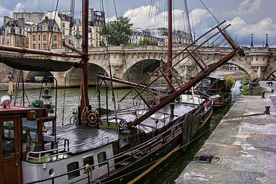Photograph - Houseboat On The Seine by Nikolyn McDonald