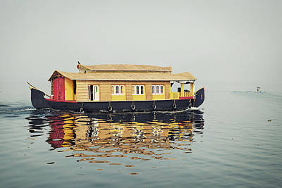 Kerala Photograph - Houseboat Sailing On Vembanad by Brytta