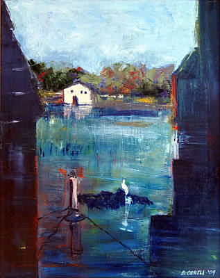 Painting - Houseboat Shadows by Barbara Oertli