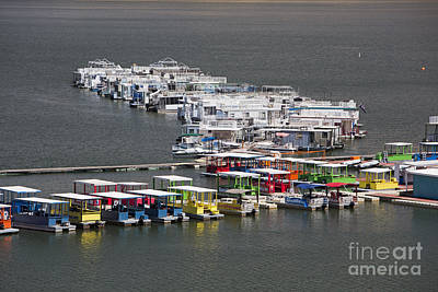 Photograph - Houseboats by Jim West