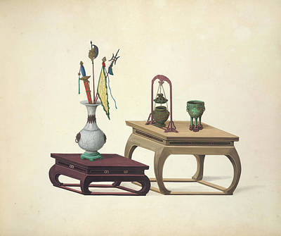 Watercolor Tools Photograph - Household Accessories by British Library