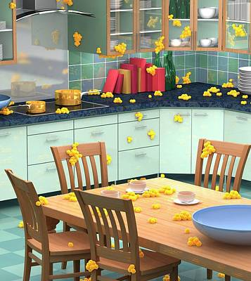 Household Bacteria Cross-contamination Print by Animated Healthcare Ltd