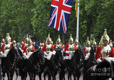 Household Cavalry Life Guards Print by James Brunker